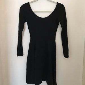 Black fit and flow dress